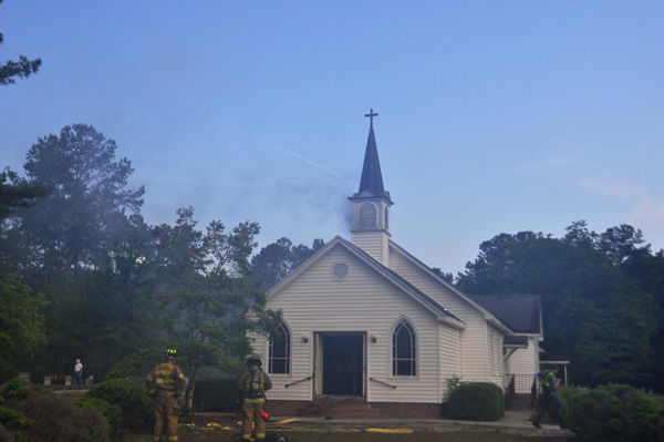 Fire damages Methodist church near Walterboro, which Baptist church was sharing after its loss