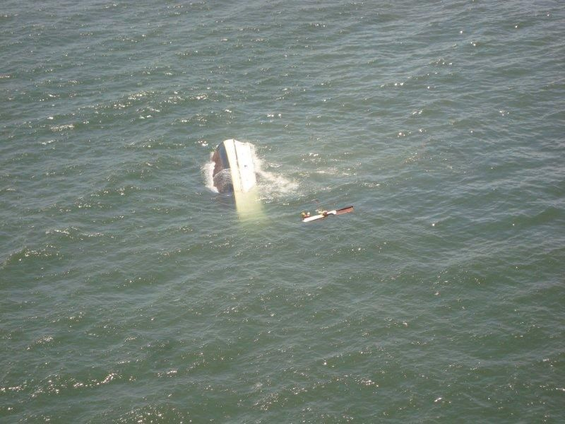 Shrimp Boat Wreck Coming Apart Along Charleston Jetties