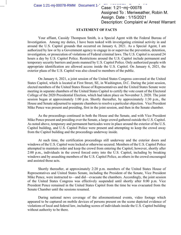 FBI document charging Andrew Hatley