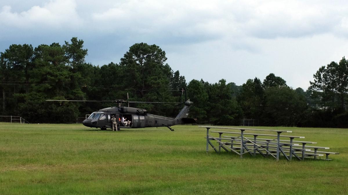 Gov. Henry McMaster Black Hawk helicopter flooding