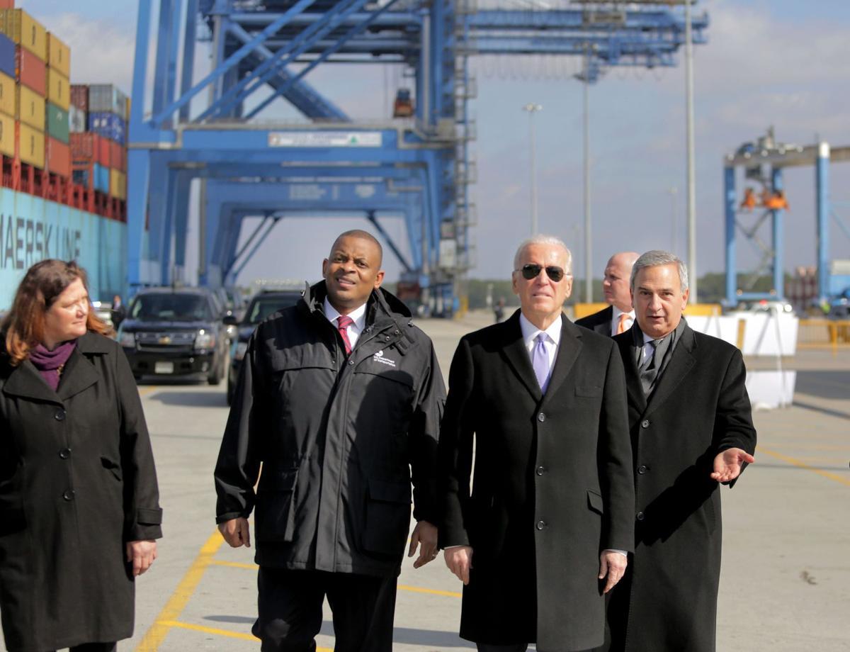 VP Joe Biden visits Charleston port