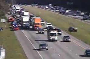 Wreck stalling westbound traffic on I-26