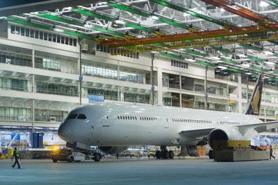 Boeing\'s first 787-10 for commercial use rolls out of North ...