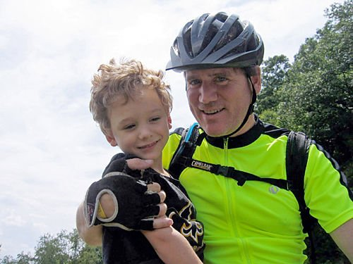Pedal power: Man cycling to raise awareness for cerebral palsy