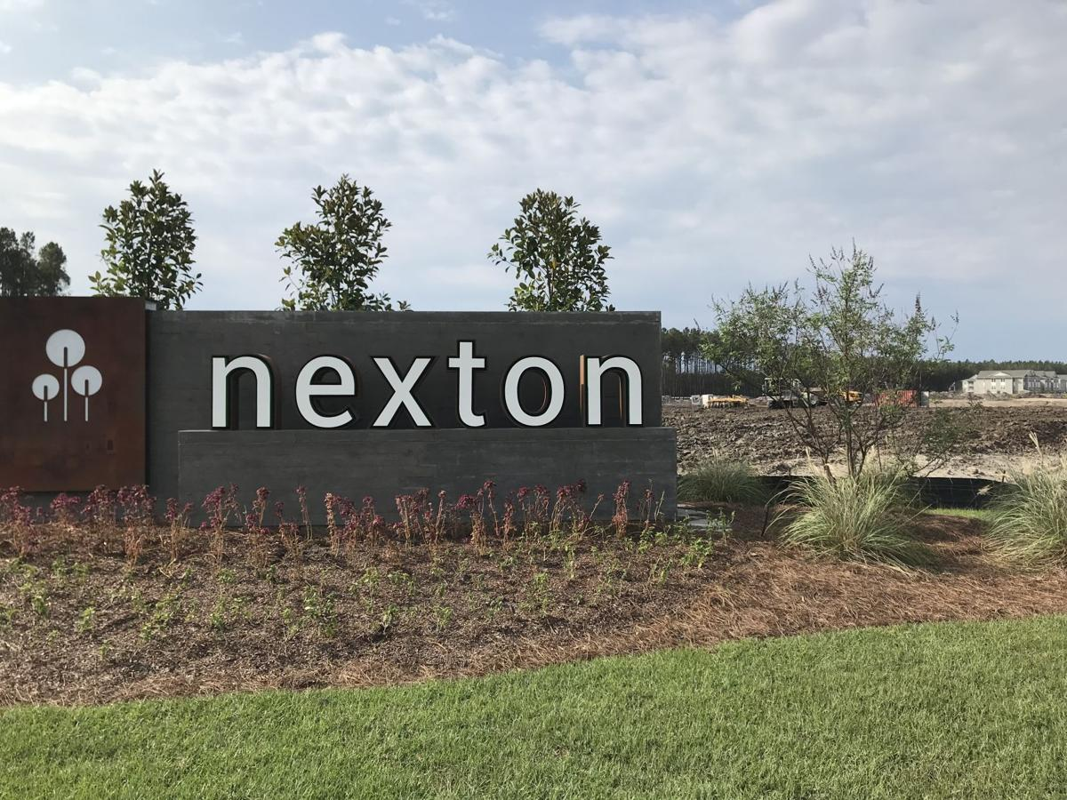Nexton corner sign across from Cane Bay