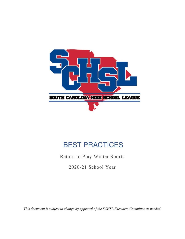 SCHSL winter sports guidelines