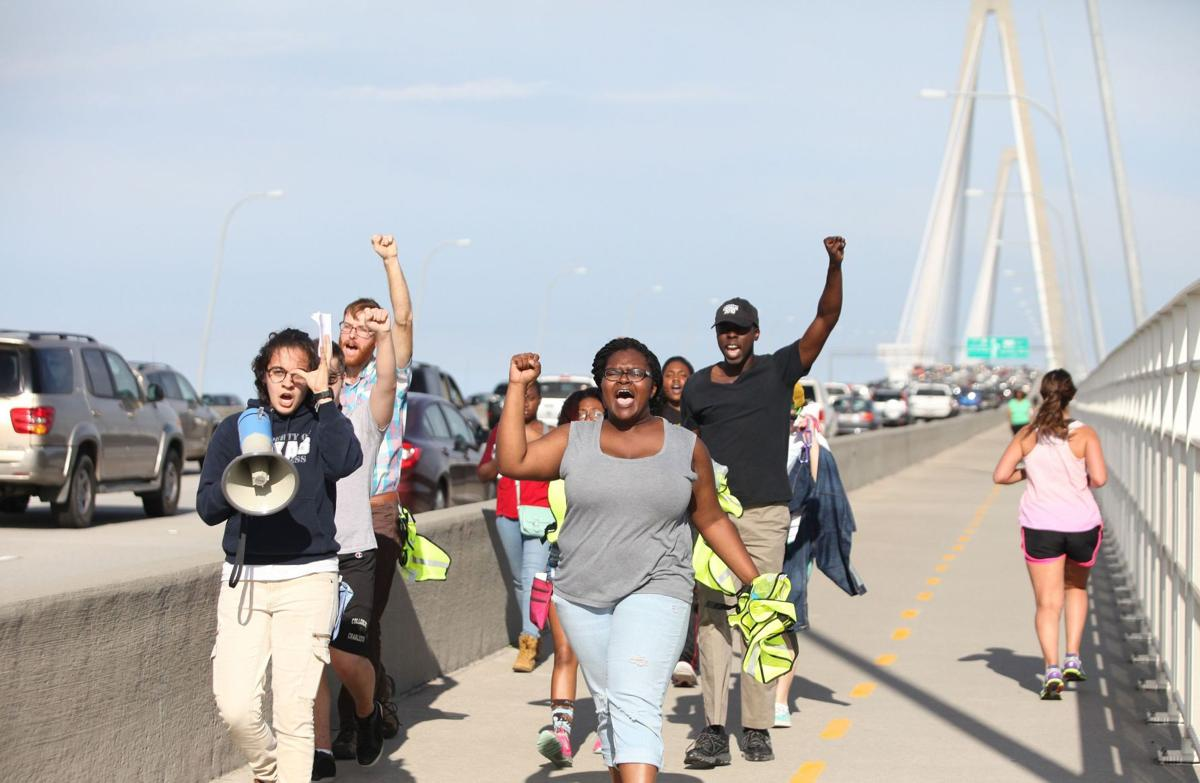 Ravenel bridge protesters who blocked traffic released on bail