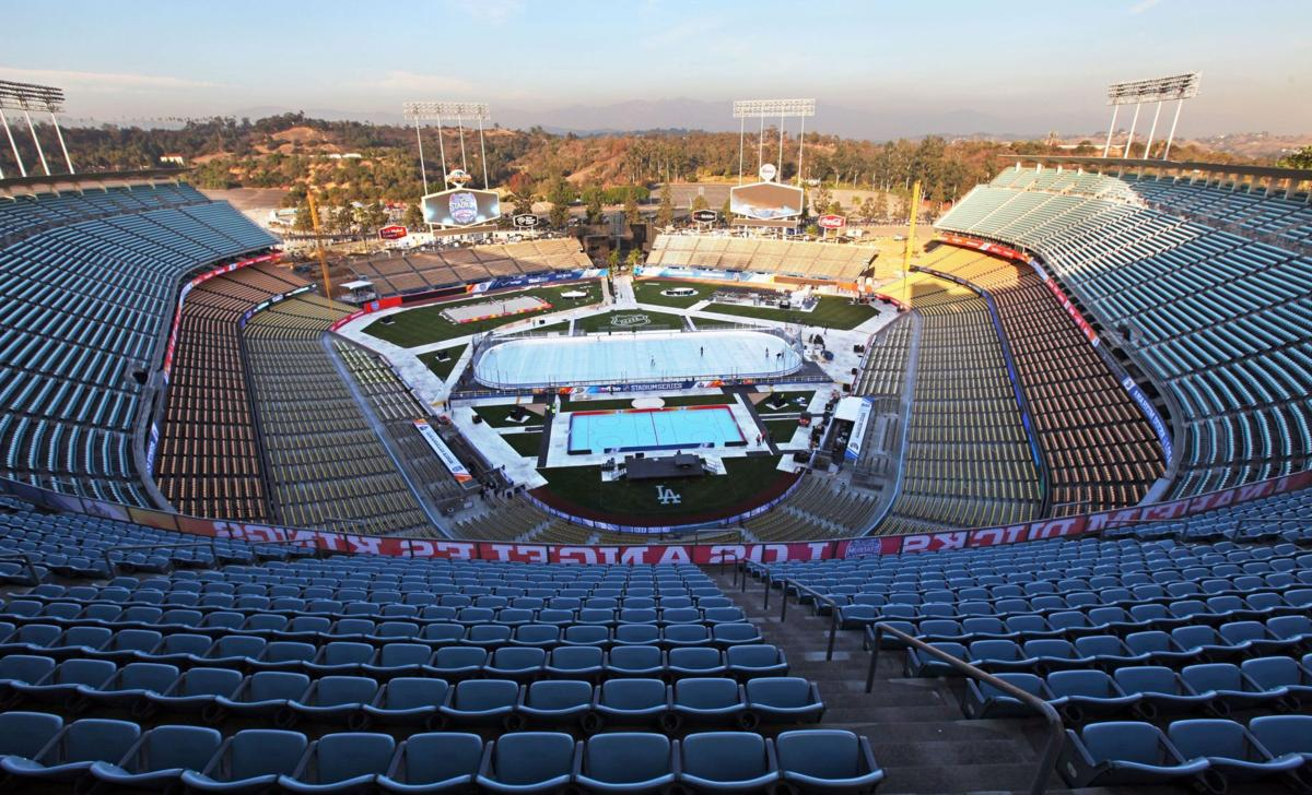 Dodger Stadium ready for historic outdoor hockey game