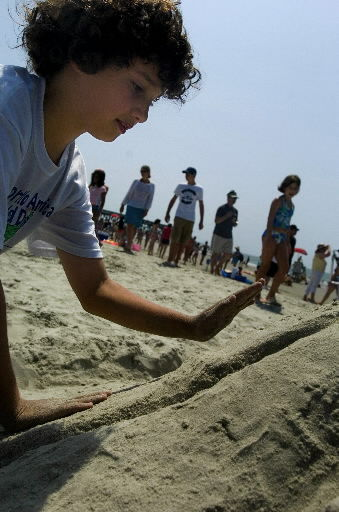 Sand sculpting contest at Isle of Palms