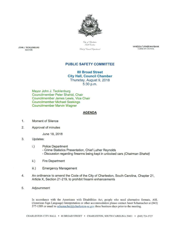 Charleston bump stock ban ordinance
