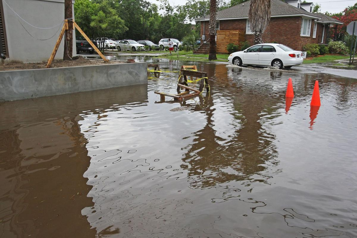 Flooded streets in Charleston