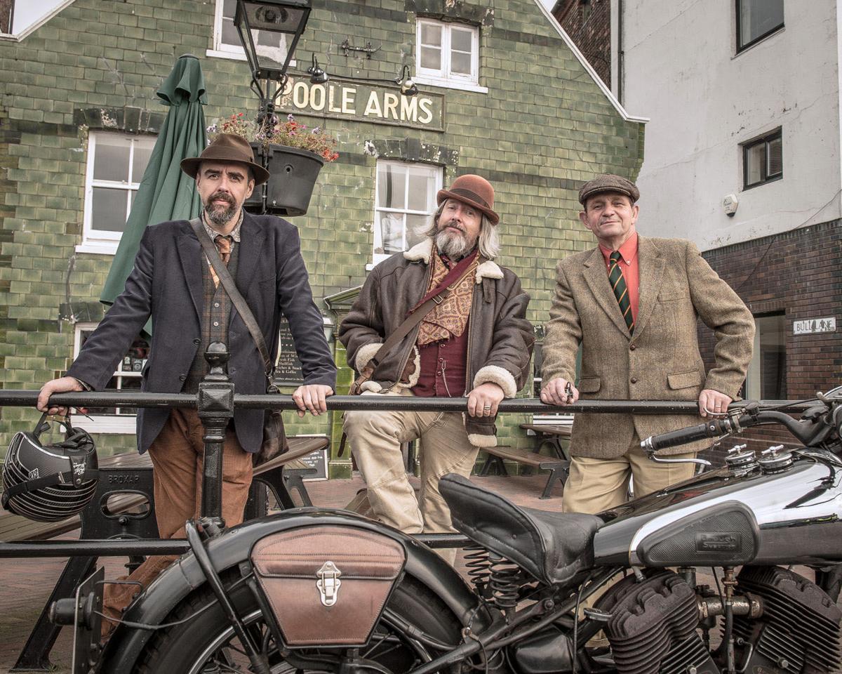 Distinguished Gentleman's Ride UK three gents