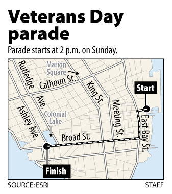 Sunday parade downtown to honor veterans