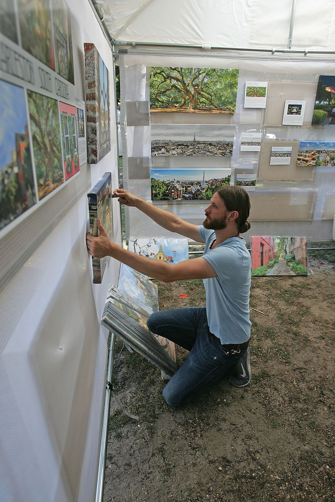 Local artists have displays at Marion Square for festival