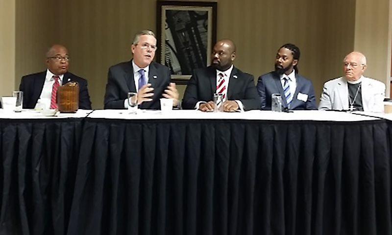 Jeb Bush calls Confederate flag racist during campaign stop near Columbia
