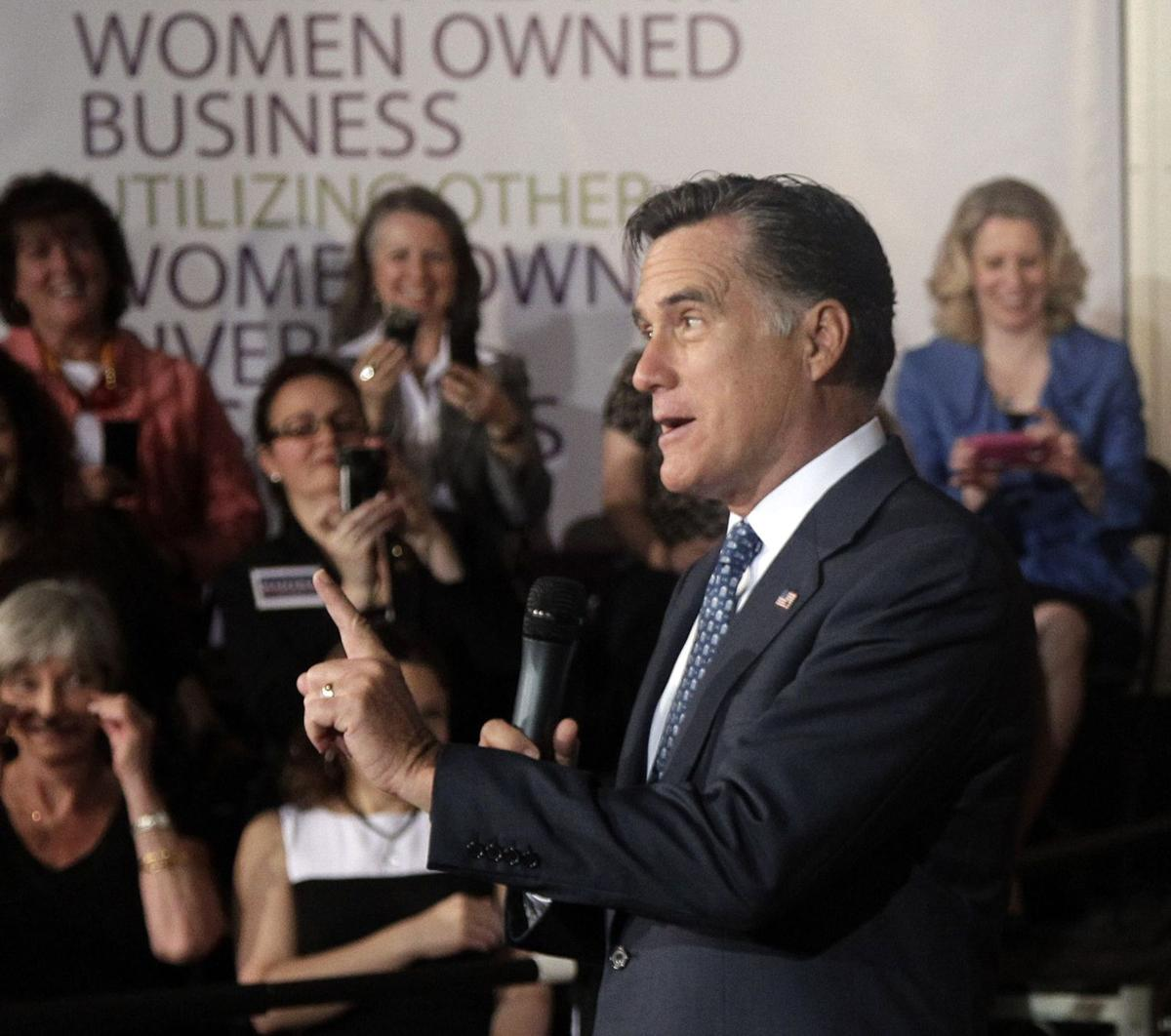 Romney wooing female voters