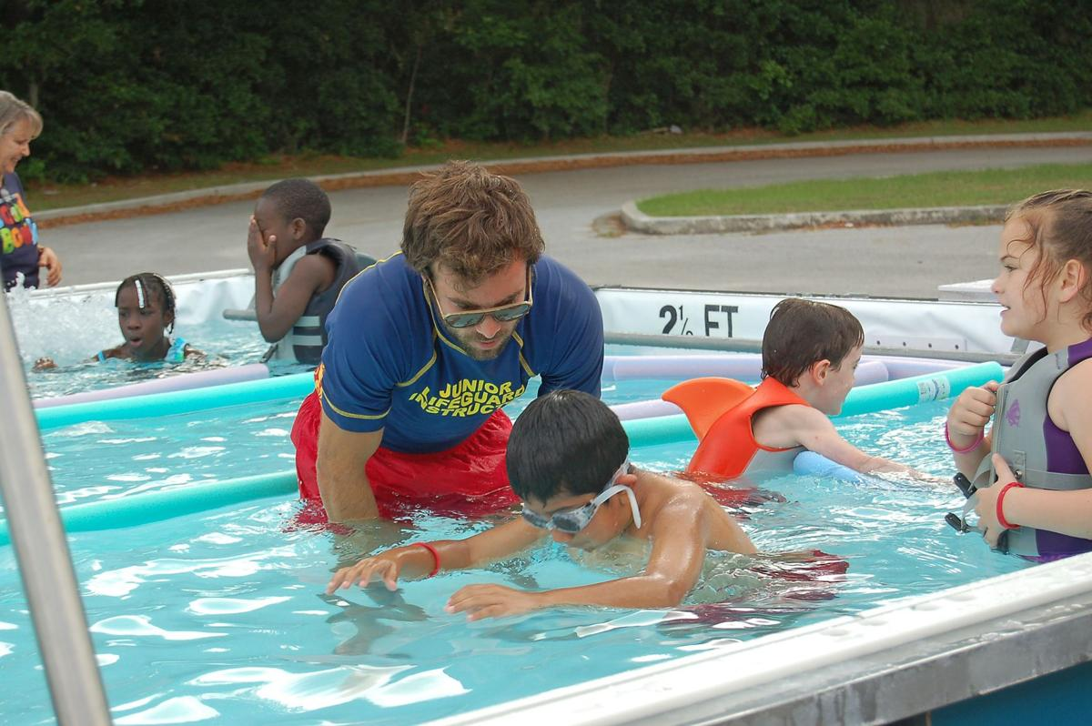Portable pool brings swim lessons to kids archives for Portable swimming pools for kids