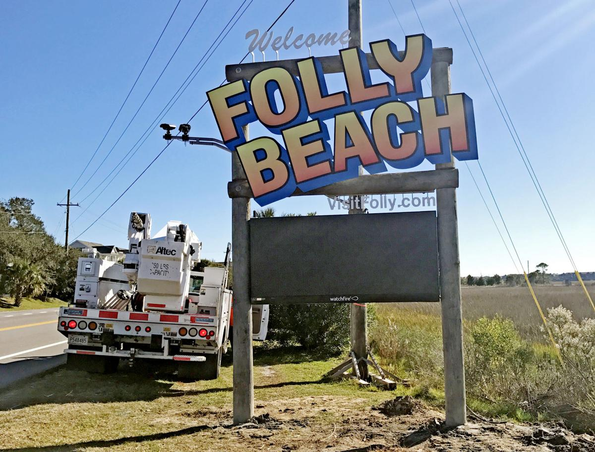 New Folly welcome sign