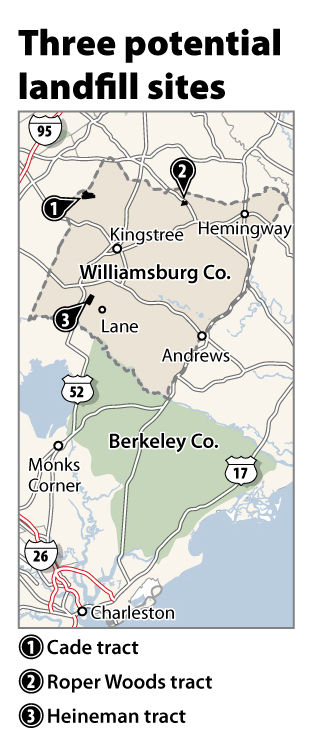 3 sites identified for possible landfill