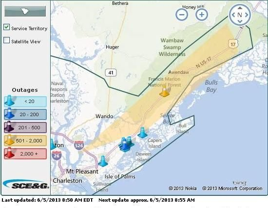 Power restored after mechanical failure caused outage to 700 SCE&G customers