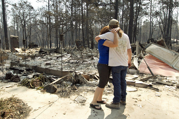 Texas fires out of control