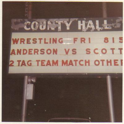 County Hall wrestling