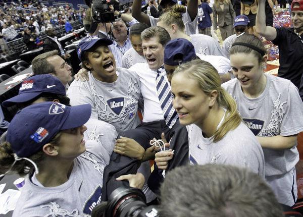 Two-time defending champ UConn women to play at Charleston next season