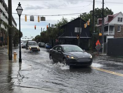 Cannon and President streets flooded, Aug. 3, 2018 (copy)