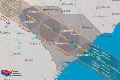 Eclipse South Carolina path