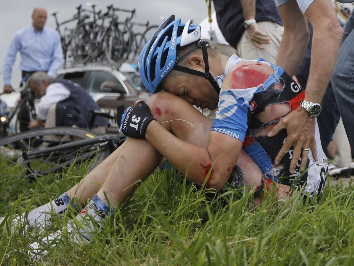 Tour de France marred by crashes, many withdrawals