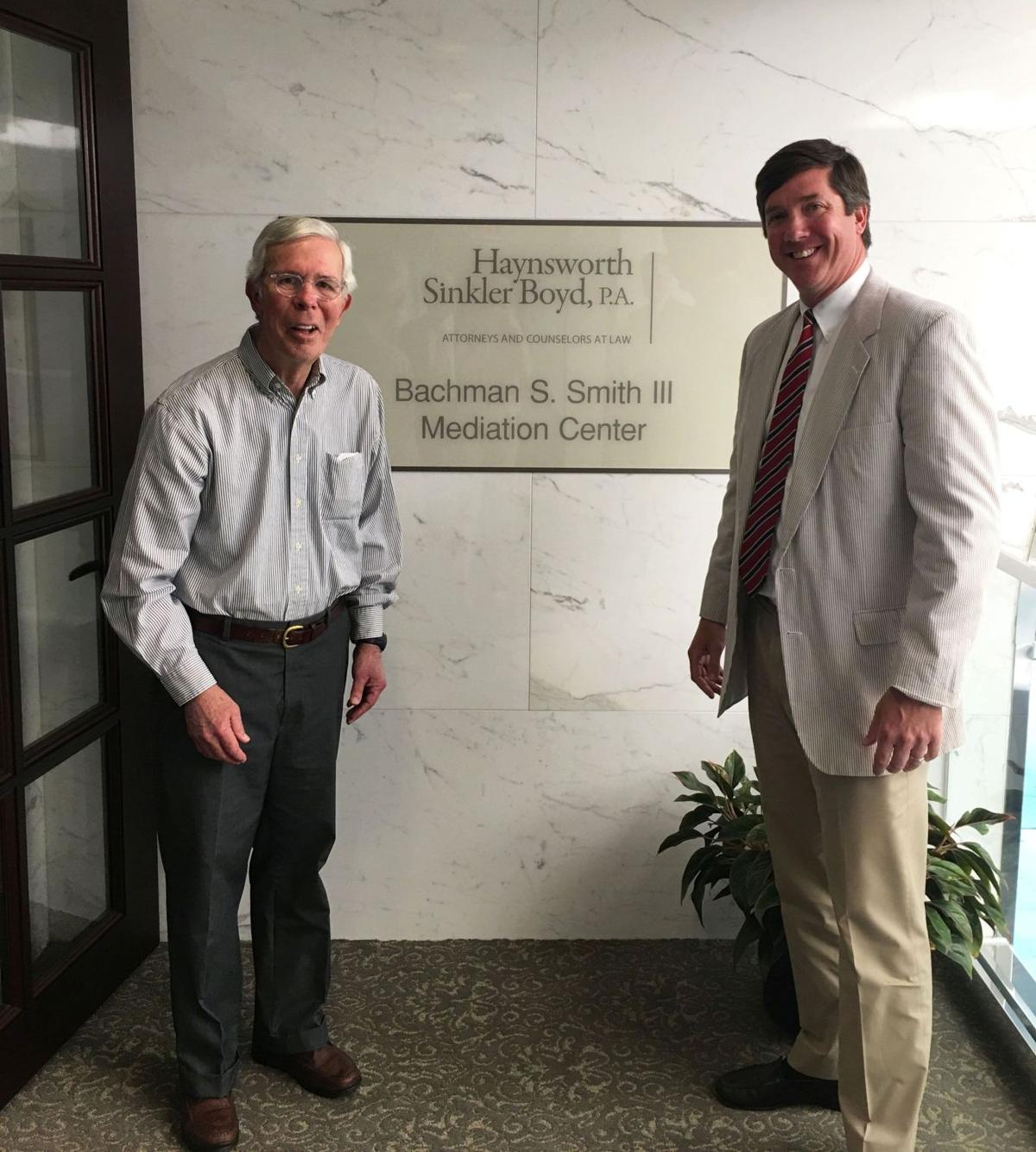 Law firm's new mediation center named for Charleston attorney