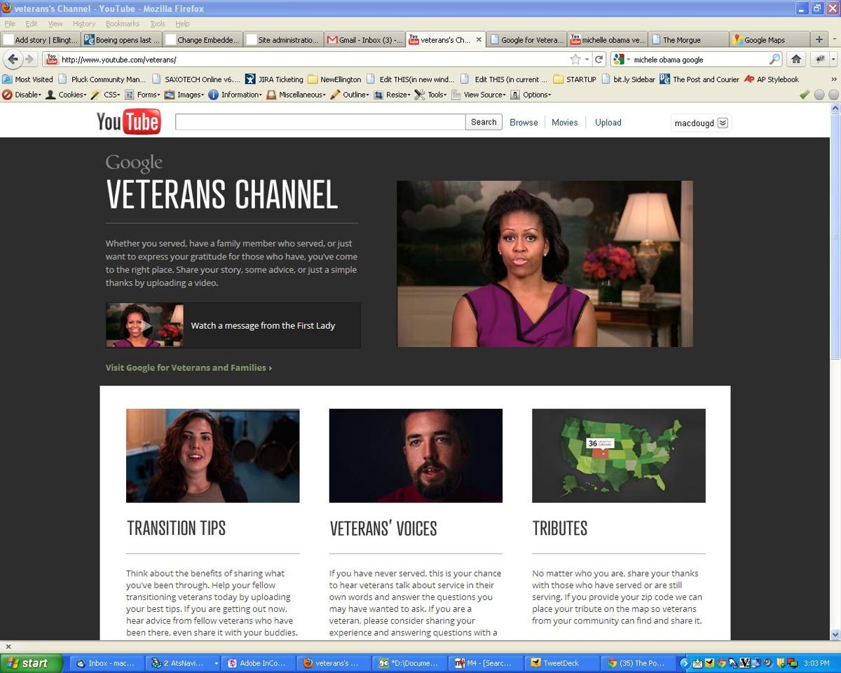 First Lady helps Google roll out new site for veterans and their families