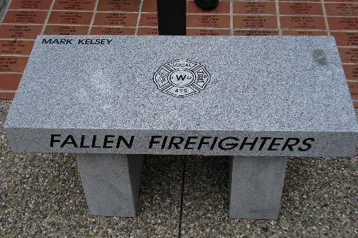 Firefighter's hometown unveils bench in his honor