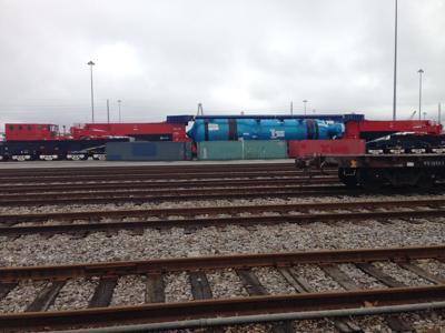 Unique rail car can pull heavy-duty port cargo