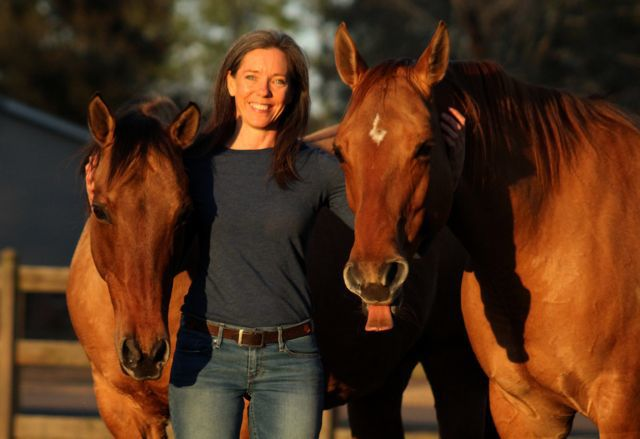 Kim Hallin with horses
