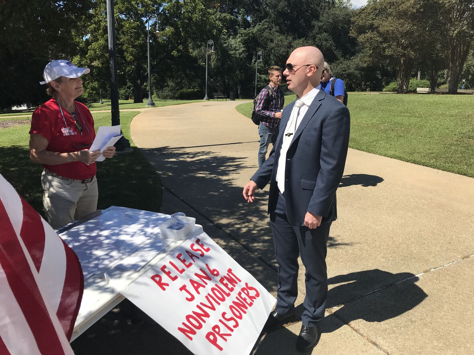 Georgetown native, architect of national 'Justice for J6' rallies, speaks at home state rally