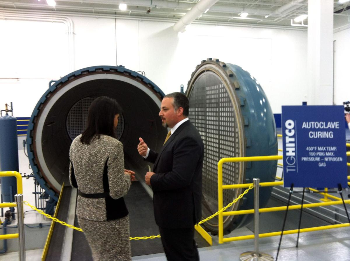Open for business Customers, elected officials tour composites factory