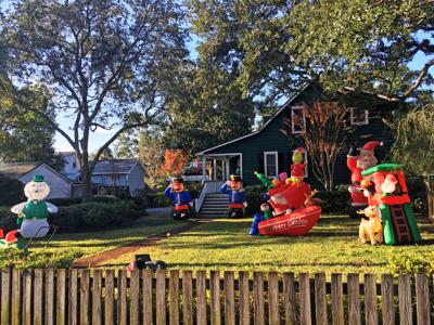 Christmas Inflatables.Mount Pleasant S War On Christmas Inflatables Proves