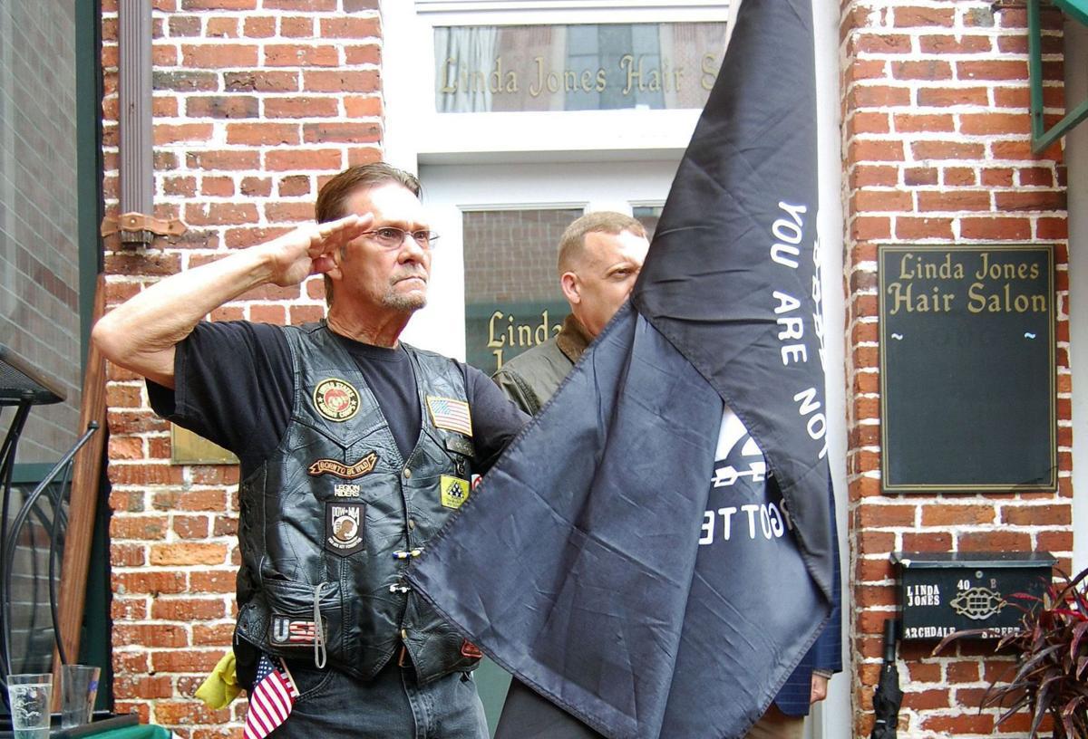 Ceremony honors flags, Vietnam vets U.S., POW colors back at restaurant