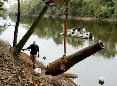 Archaeologists retrieve renowned Civil War guns from the Pee Dee