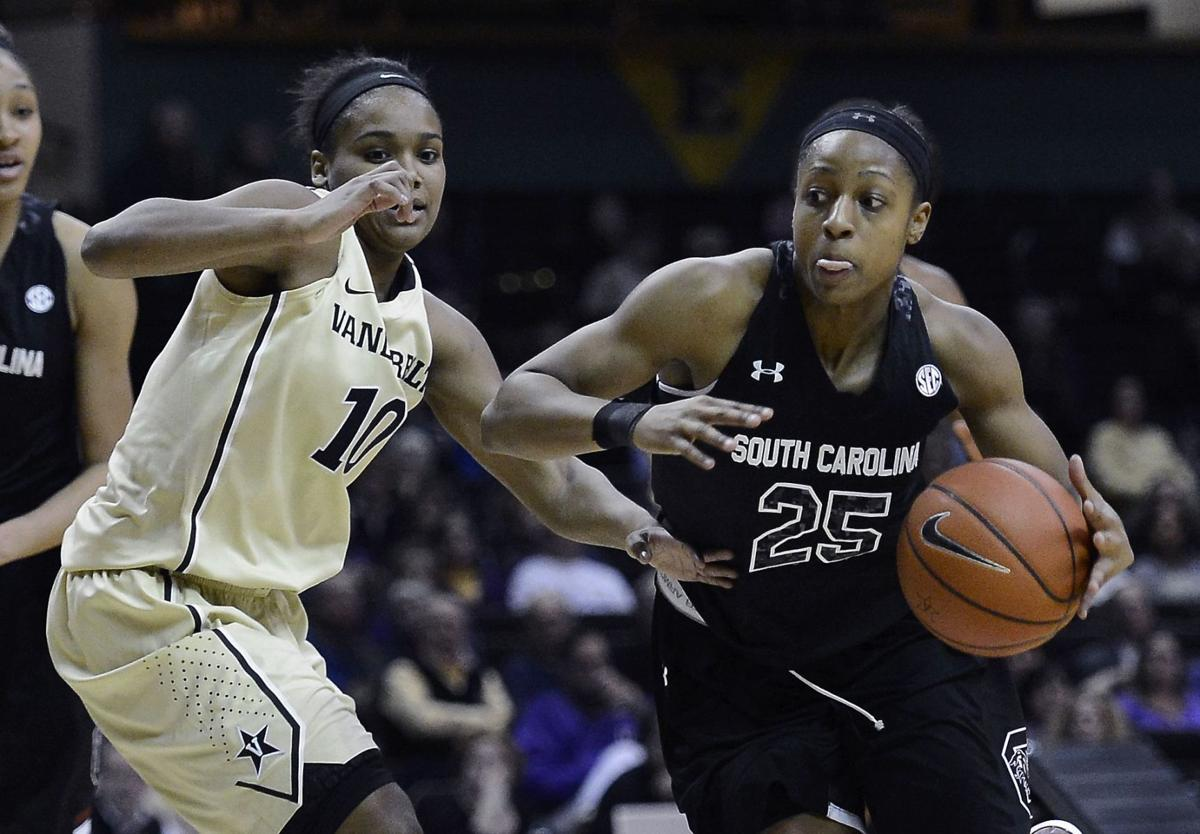 No. 10 South Carolina edges No. 16 Vanderbilt 61-57