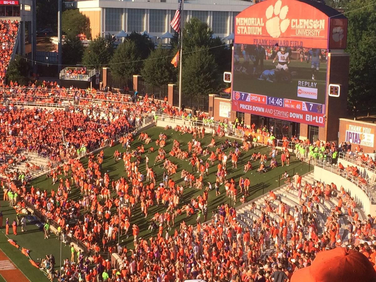 Clemson fans at Boston College game