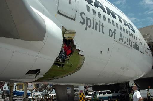 Jet's cabin rips open
