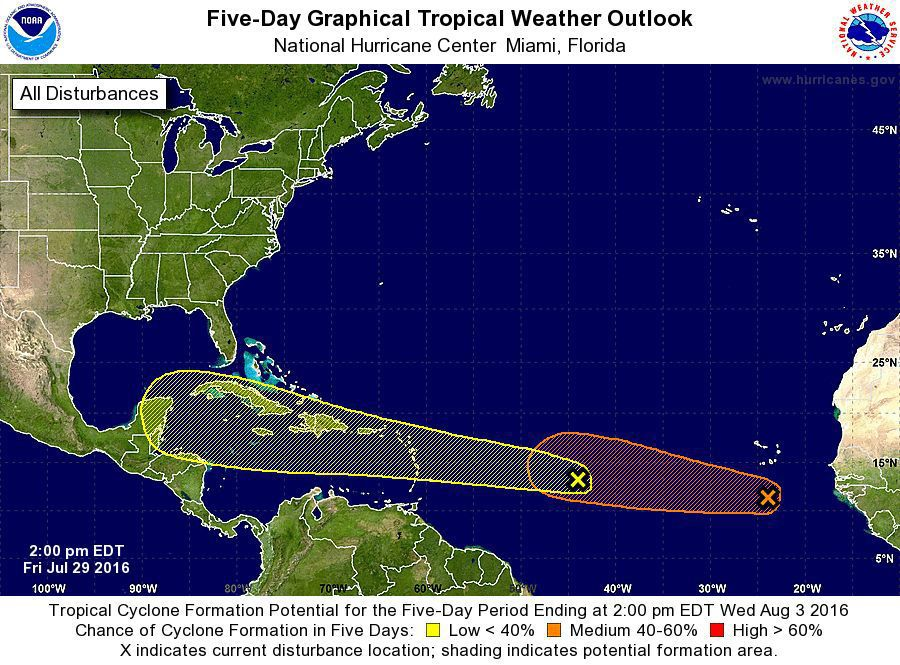 Atlantic storms forecast to miss Lowcountry