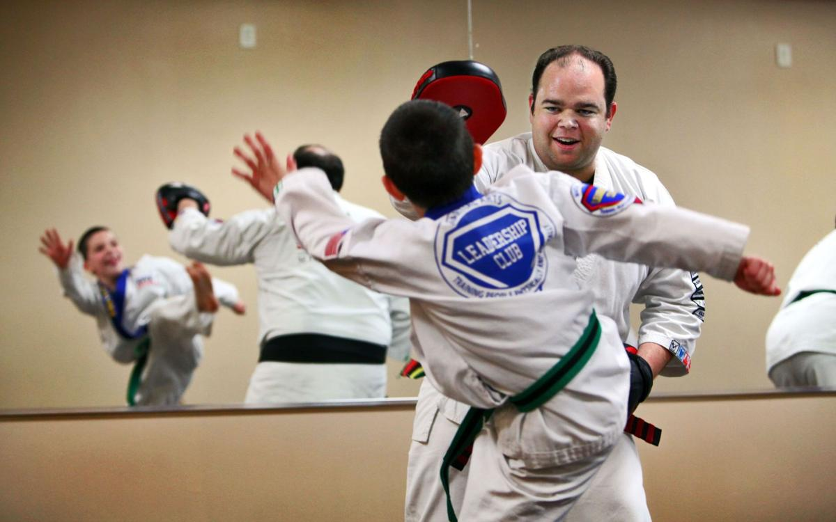 Kick-starting confidence Unlikely karate instructor aims at building leaders