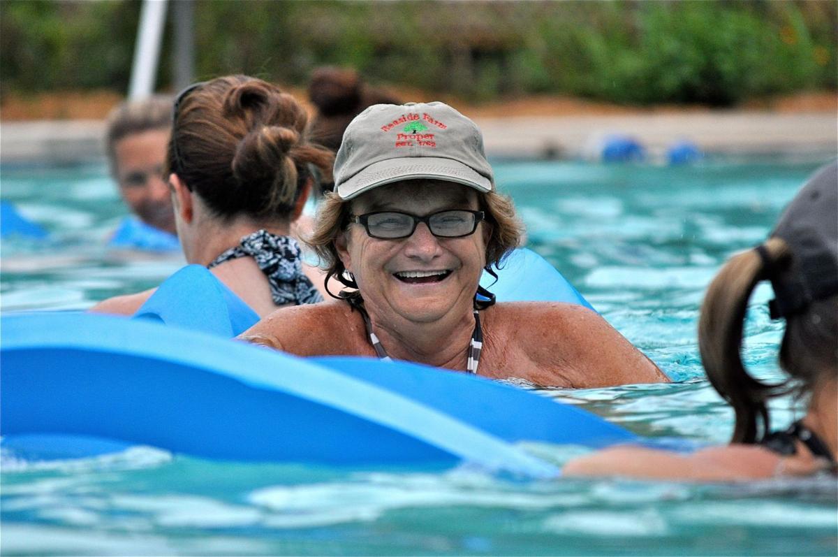 Low-impact water aerobics get intense