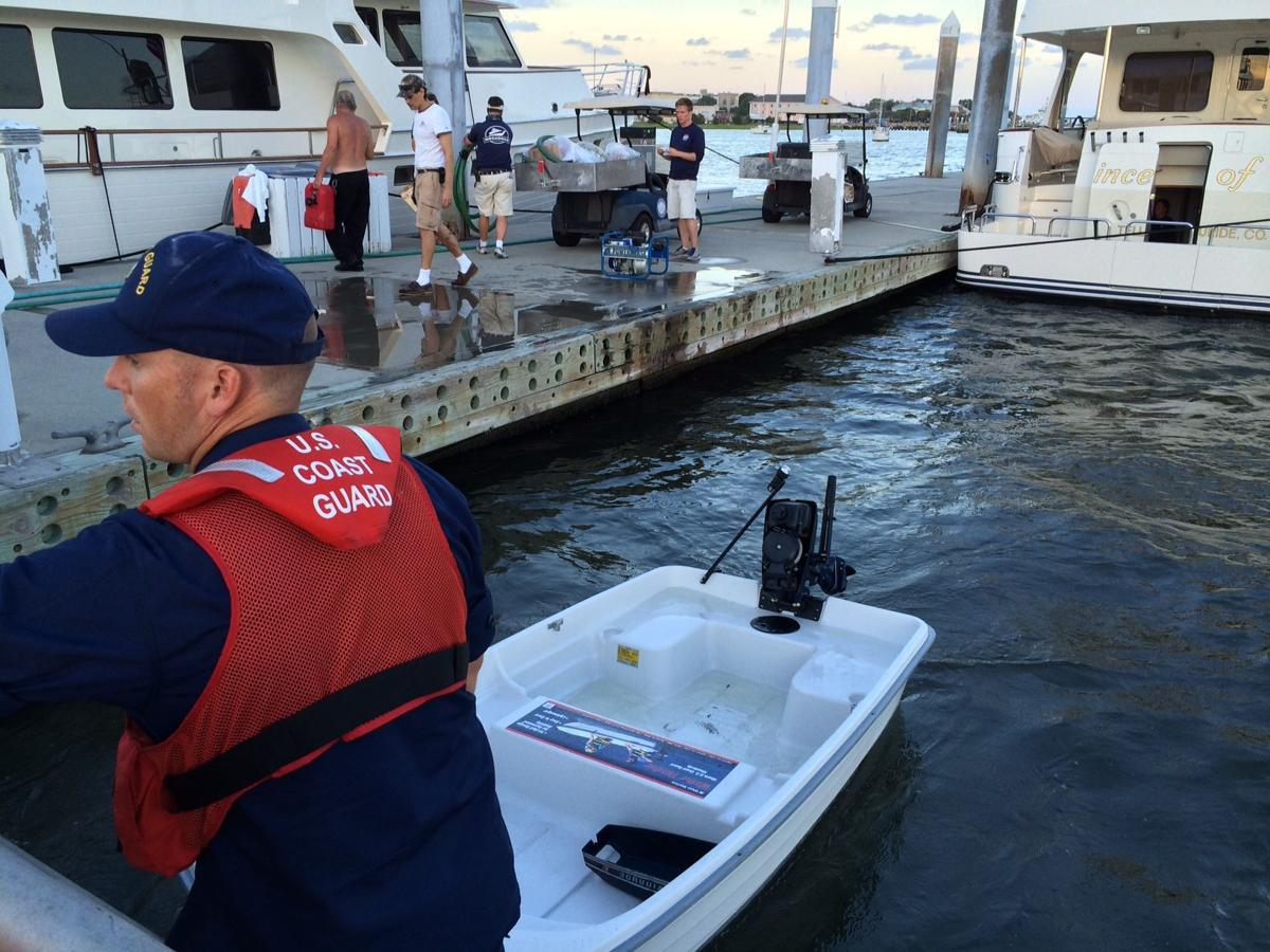 Coast Guard: Marina employees rescue capsized men thrown overboard in Charleston Harbor