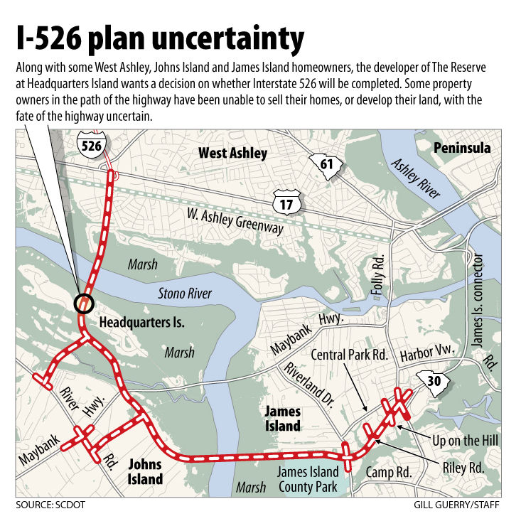 I-526 expansion still not settled: Property owners seek decision as state waits on county