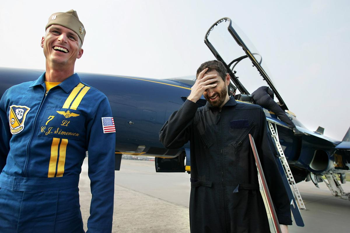 Columnist Bryce Donovan takes to the sky with the Blue Angels — and then immediately to the barf bag