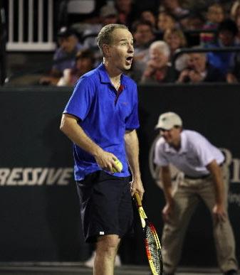 Tennis legends put on a show